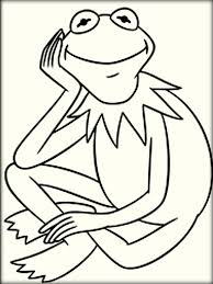 Small Picture Kermit The Frog Coloring Pages Color Zini