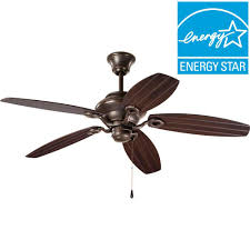 progress lighting airpro 54 in indoor or outdoor antique bronze ceiling fan