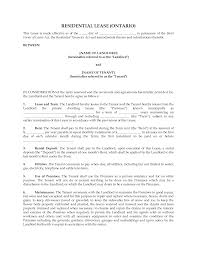Free Lease Agreement Ontario Images - Agreement Letter Sample Format