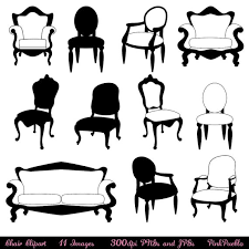 furniture clipart black and white. Plain Furniture Vector Illustration Of Set Furniture An Illustration A Set Furniture  Clipart Black And White  In