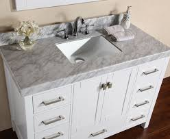 48 malibu white single modern bathroom vanity with white marble top and undermount sink