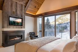 Denver Linear Gas Fireplace With Black Fireplaces Bedroom Rustic And Wood  Ceiling