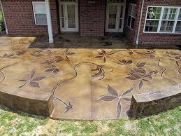 stained concrete patio. Wonderful Patio Beautiful Concrete Patio With Trailing Acid Stained Vines Meandering The  Surface For Stained Concrete Patio E