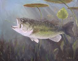 largemouth bass painting
