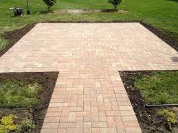 how to lay a brick patio ez hang door