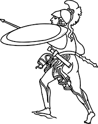 Ancient Rome Soldier Coloring Page Wecoloringpagecom