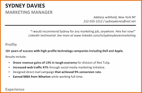 Awesome Collection Of Resume Profile Summary Example Examples Of