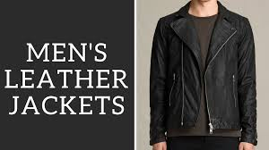 men s leather jackets how to wear them er motorcycle