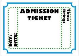 Entry Ticket Template Doc 24 Free Event Ticket Template Microsoft Word Entry 1