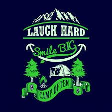 Lachen Sie Hartes Lächeln Oft Großes Lager Camping Sprüche Und