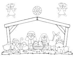 Call His Name Jesus Manger Coloring Page Christmas Pinterest Inside