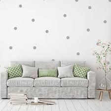 gray polka dot wall decals
