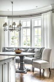 Bay Window Seat Dining Table Curved Banquette Oval Room