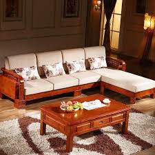 all solid wood oak versatile l shaped sofa with chaise fabric sofa bed with solid wood