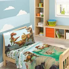 Amazon.com : Disney Prehistoric Footprints 4 Piece Toddler Bed Set ...