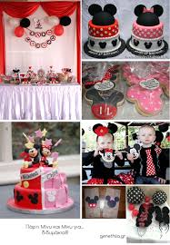 Minnie and Mickey party idea for twins/boys or girls/shared party
