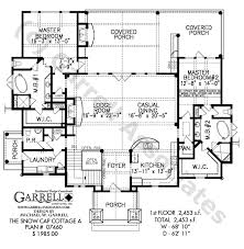 snow cap cottage a house plan active house plans home floor plans double master suites