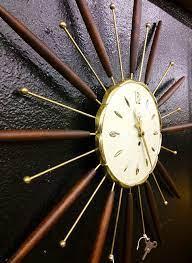 vintage lux starburst wall clock