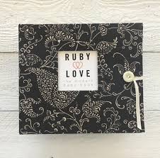 Brown Paisley | Baby Book Girl Books - Memory by Ruby Love