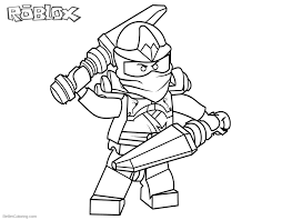 Roblox Lego Ninjago Kai Coloring Pages Free Printable Coloring Pages