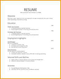 First Job Cv Free Resume Templates First Job Simple Resume Template