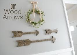 wood arrows tutorial great easy diy decor project