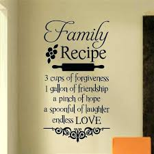 wall lettering decals letter decals for walls family recipe kitchen decal vinyl wall lettering wall quotes wall lettering decals