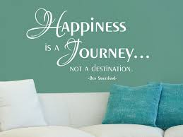 Wandtattoo Happiness Is A Journey Not A Destination Klebeheld