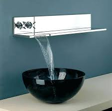 kraus vessel sink waterfall faucet combo home and house for intended 3