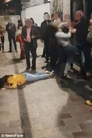 The Club Women Pavement To Bouncer Outside Three Belfast Shoves w8ZpS