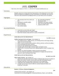 Samples Of Sales Resumes Resume Sales Examples Sales Resume