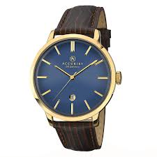 watches h samuel accurist men s blue dial brown leather strap watch product number 2399911
