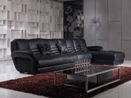 Living Room Black Leather Furniture Sets Eiforces - Leather livingroom