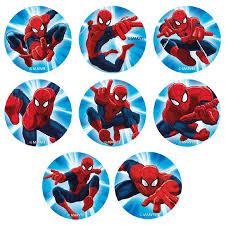 Edible Cake Topper Mini Discs Spiderman Décorelief