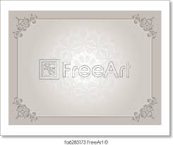 Certificate Background Free Free Art Print Of Certificate Background Decorative Certificate