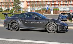 2018 porsche gt3 rs. beautiful gt3 the track weapon that is the porsche 911 gt3 rs about to be sharpened  just a little bit more our spy shots reveal prototype for an updated  intended 2018 porsche gt3 rs