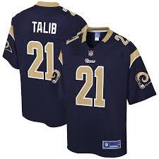 Nfl Pro Navy Line Men's Player Rams Aqib Talib Los Angeles Jersey