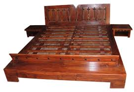 Indian Solid Wood Bed Indian Wooden Storage Beds Indian Carved