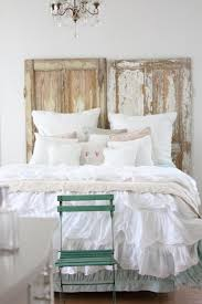 white coastal furniture. Endearing Image Of Coastal Bedroom Decoration Using All White Plain Bed Sheet Including Rustic Furniture