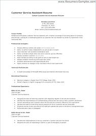 Customer Service Representative Job Resume Publicassets Us