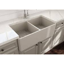 Classico 33 In Apron Front Fireclay Double Bowl Kitchen Sink With