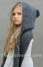 Free Hooded Scarf Knitting Pattern
