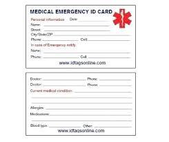 Emergency Card Template Medical Emergency Card Template Jjbuilding Info