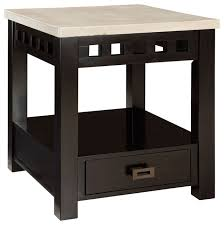 end tables designs captivating looked in square shape for top with white theme and additional drawer at the bottom design dark brown end table varnished captivating side table