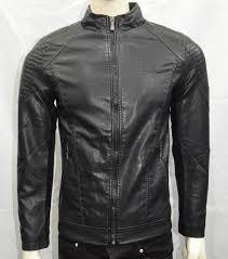 men boys faux leather jacket casual warm winter stylish jacket black