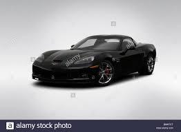 2009 Chevrolet Corvette Z06 in Black - Front angle view Stock ...