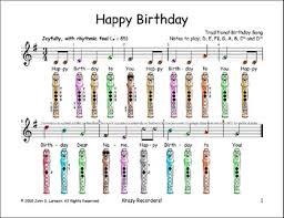 Happy Birthday Recorder Finger Chart Bedowntowndaytona Com