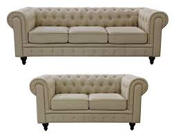 fabric chesterfield sofa. Delighful Fabric US Pride Furniture S50712PC Linen Fabric Chesterfield Sofa Set Beige Throughout Amazoncom