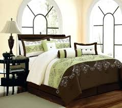 green and brown bedding sets queen bedding sets green sage green embroidery green palm tree pertaining green and brown bedding