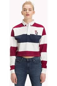 tommy hilfiger cropped rugby shirt